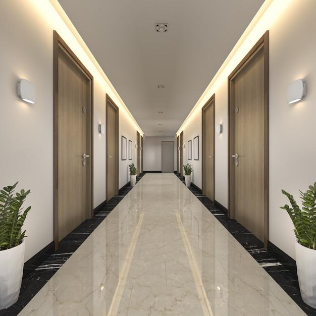 pasillo de hotel analogía de enlaces internos web