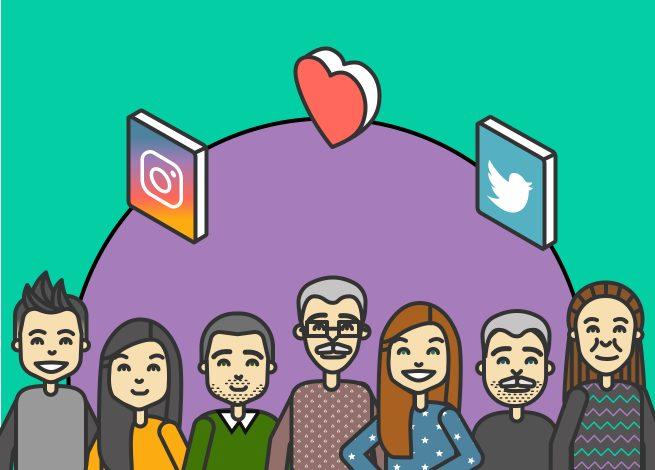 comunidad de seguidores de redes sociales